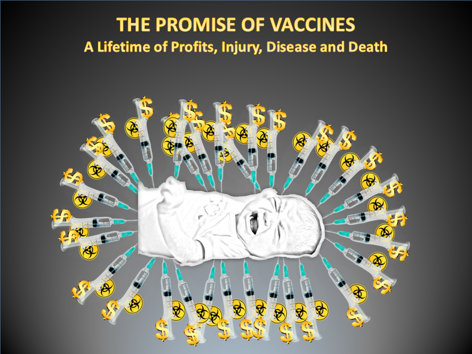 The promise of vaccines.  A lifetime of profits, injury, disease and death.